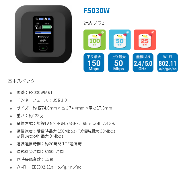 FUJI WiFi FS030W